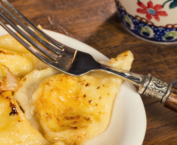 One of the Polish traditions for Christmas are pierogis