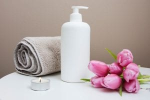 clean beauty product bottle