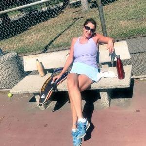 tennis in direct sunlight