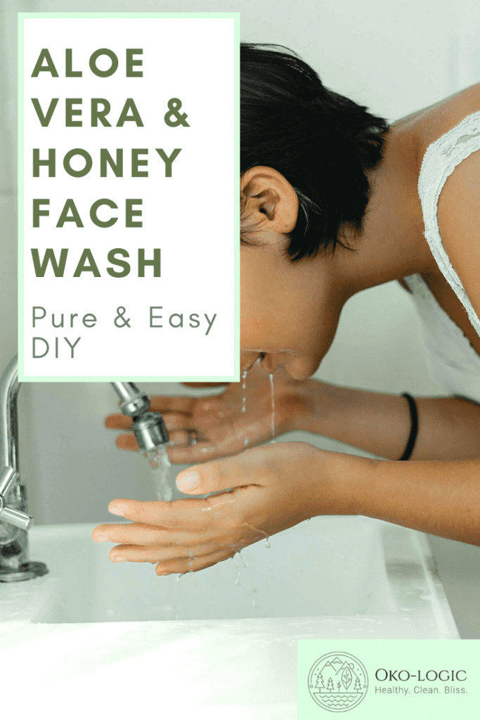 woman using aloe vera and honey face wash