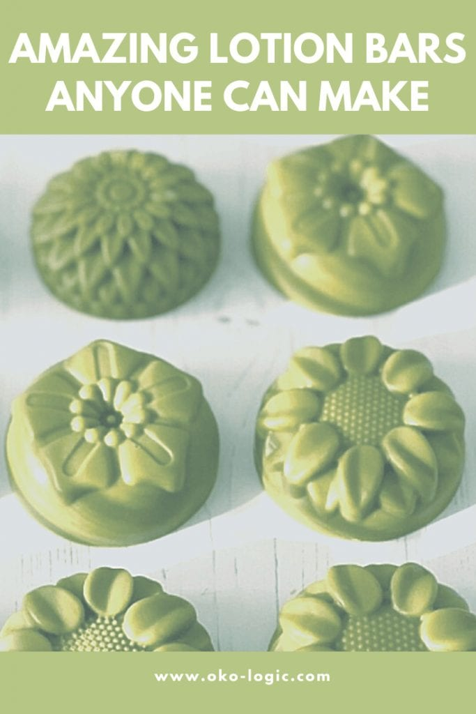Non-greasy lotion bar with matcha