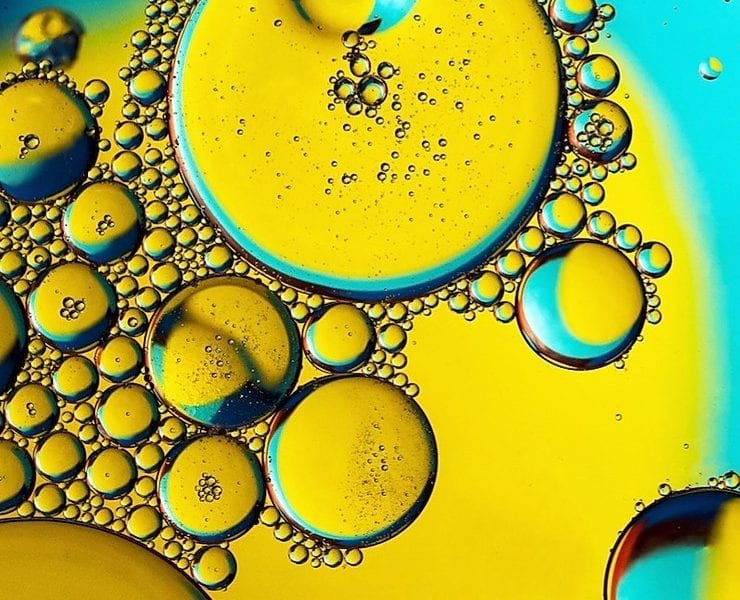 oil with air bubbles