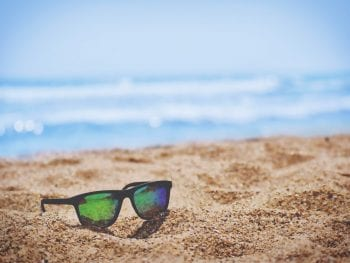 direct sunlight on beach