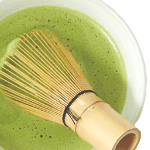 matcha Japanese green tea in a bowl