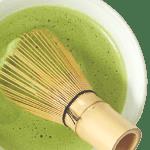 matcha Japanese green tea in a bowl