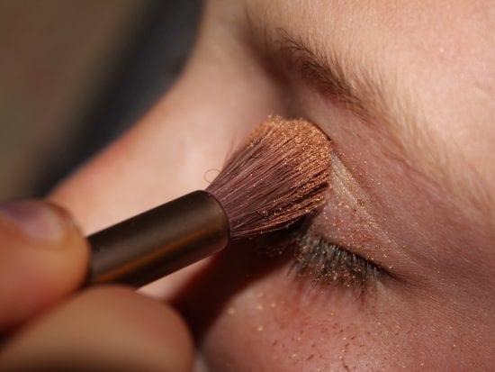 clean eye shadow as part of simple skin regimen