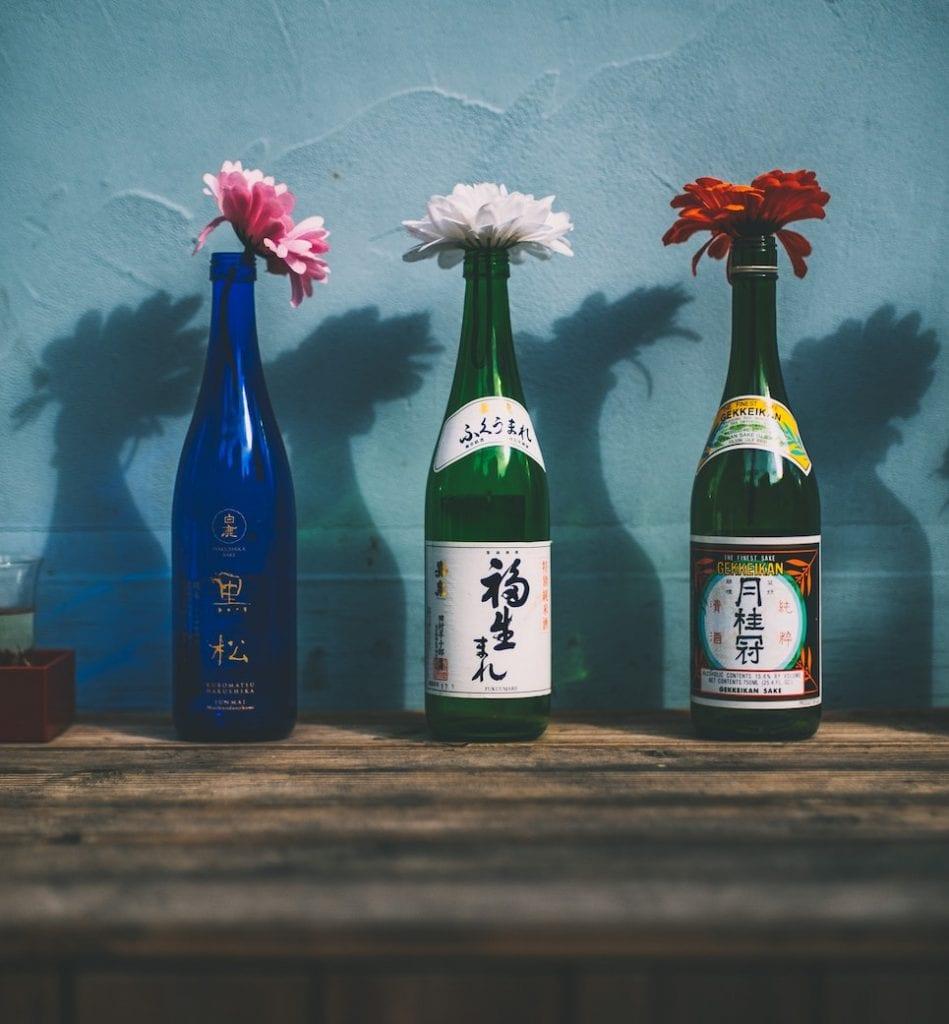 sake bottles for skin