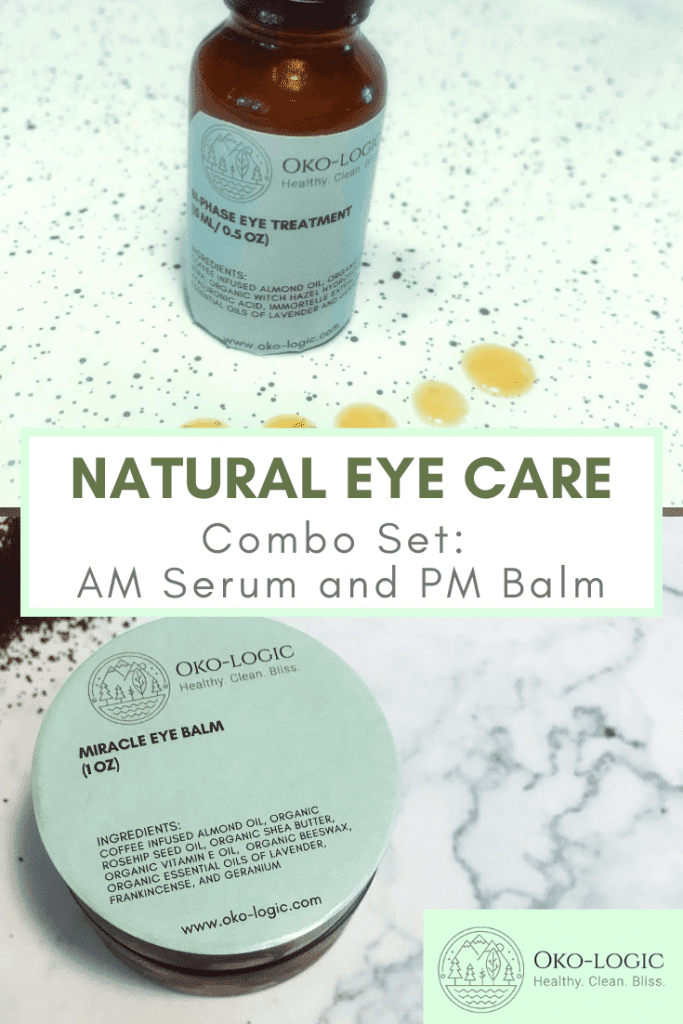 pin for natural eye care set serum and balm
