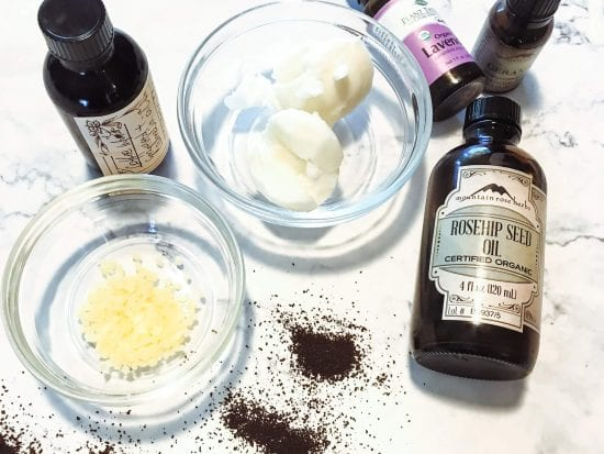 ingredients for the best natural eye balm
