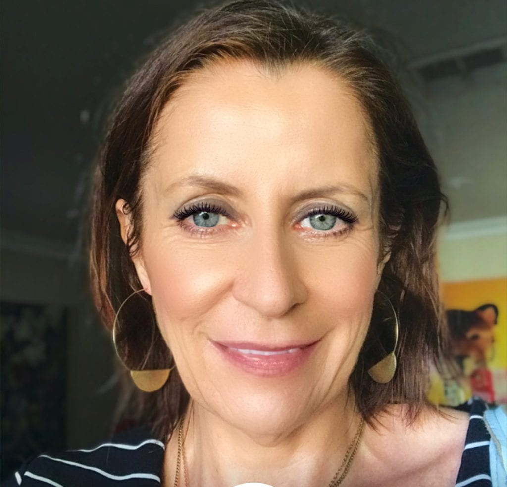 woman's face with makeup on