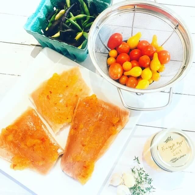 sauteed salmond prep