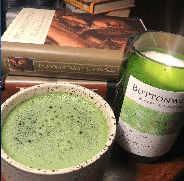 matcha with candle