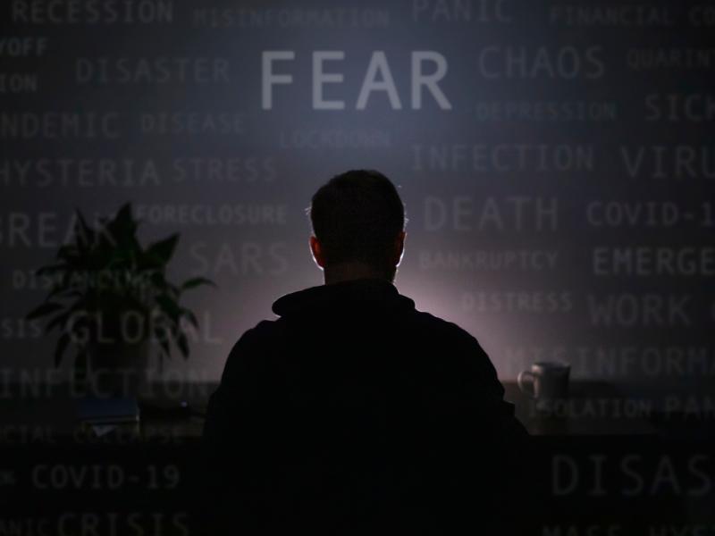 man facing Fear