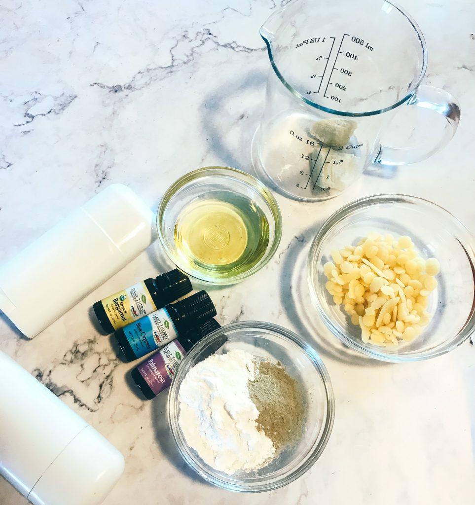 ingredients for homemade deodorant for armpit detox