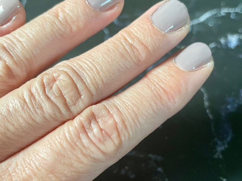 nails painted with cruelty-free nail polish